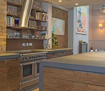 Bespoke Béton Ciré Concrete Kitchen Worktops