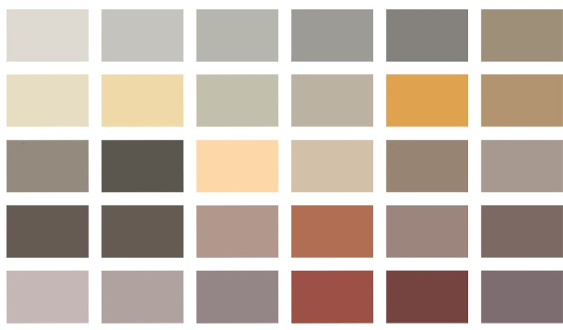 Béton Ciré colour chart for Modern Home Solutions