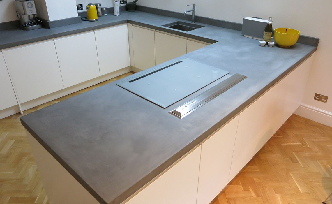 Bespoke Béton Ciré Concrete Kitchen Worktops | Modern Home Solutions