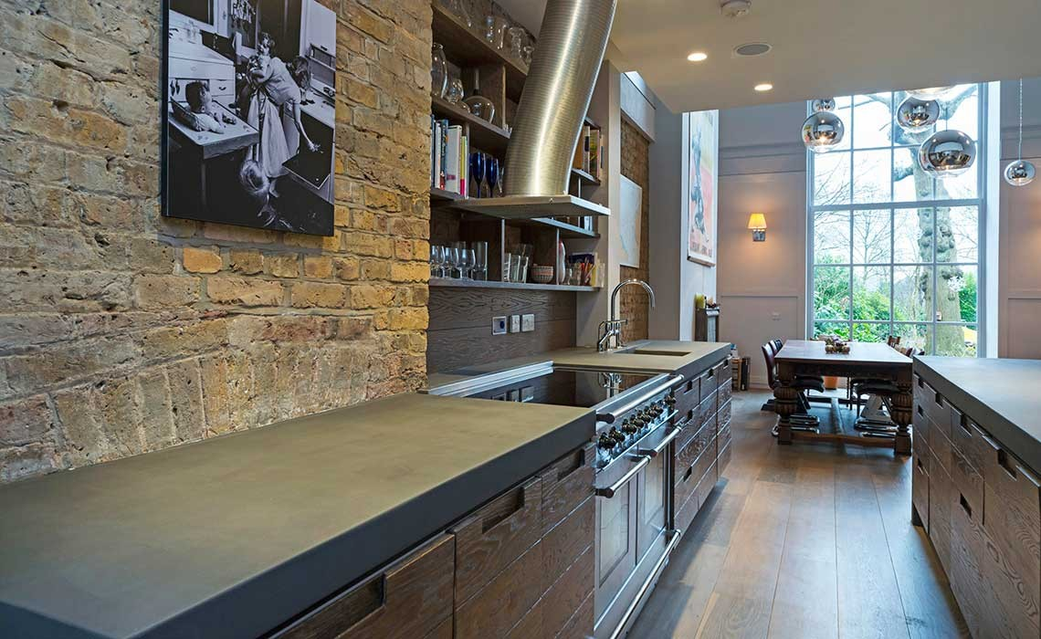 bespoke b ton cir concrete kitchen worktops modern home solutions. Black Bedroom Furniture Sets. Home Design Ideas