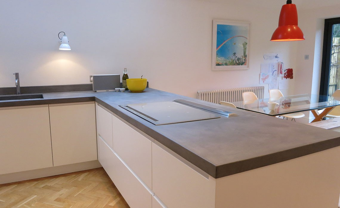 Bespoke B Ton Cir Concrete Kitchen Worktops Modern Home