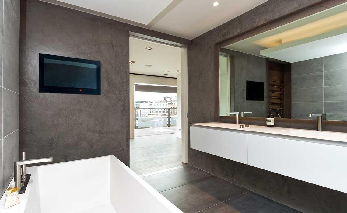 Modern b ton cir designer bathrooms modern home solutions for Salle de bain beton cire prix